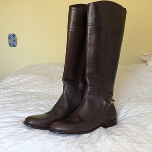 Tory Burch chestnut brown riding boots